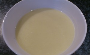Fennel and cheese soup