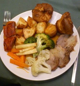 Roast dinner on Yorkshire Pudding Day
