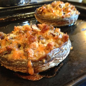 Stuffed Mushrooms straight from the oven